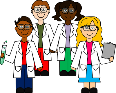 Clip art set . Scientist clipart elementary science