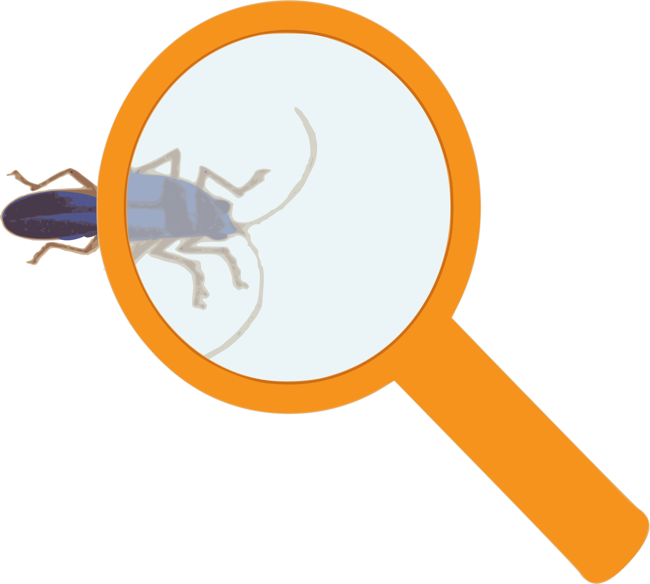 Scientist clipart magnifying glass. Big image png