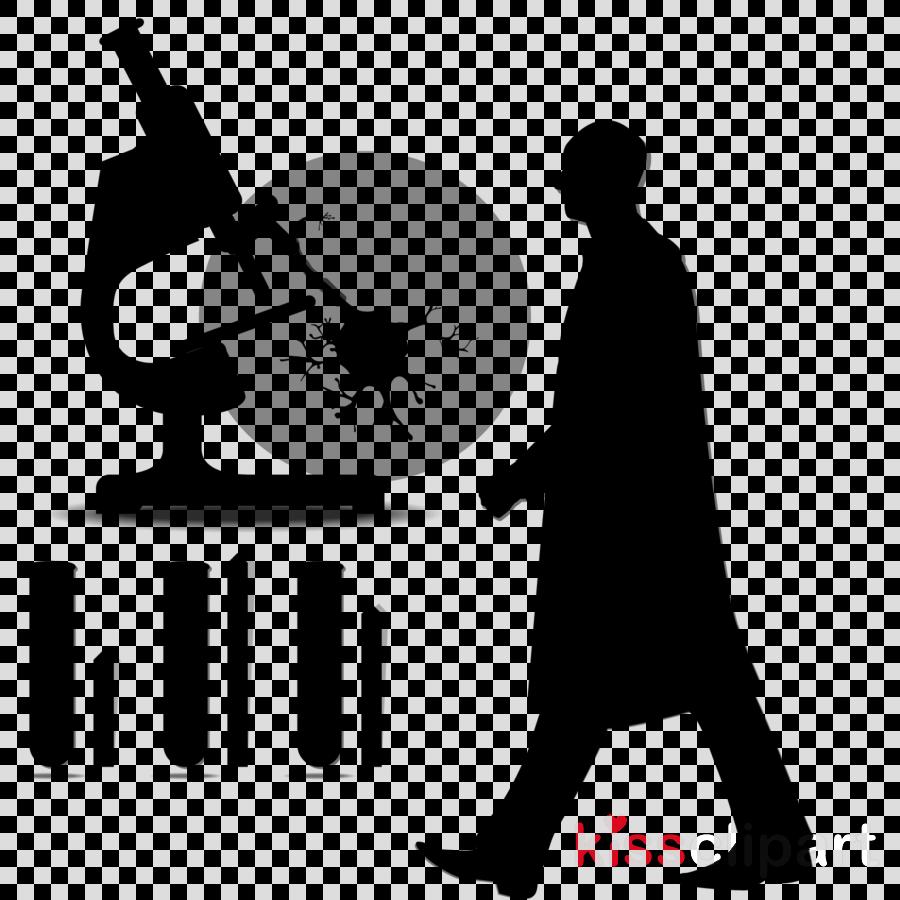 Scientist clipart silhouette. Microscope cartoon research science