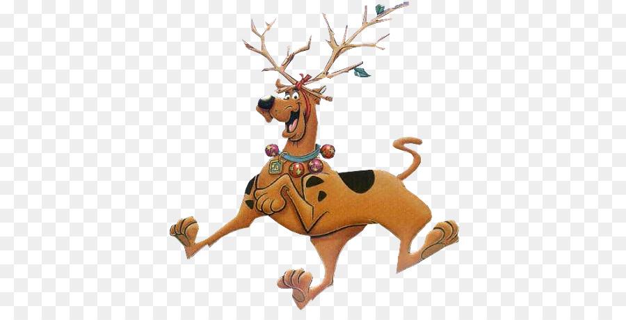 Deer reindeer cartoon . Scooby doo clipart christmas png