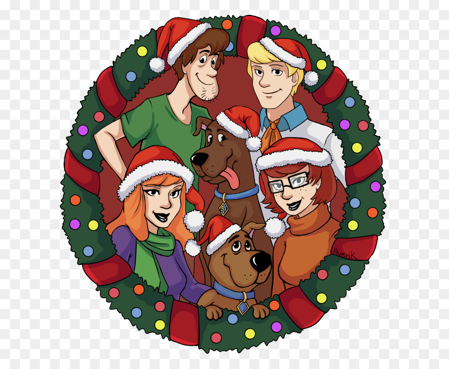 Scooby doo clipart christmas png. Card background download free
