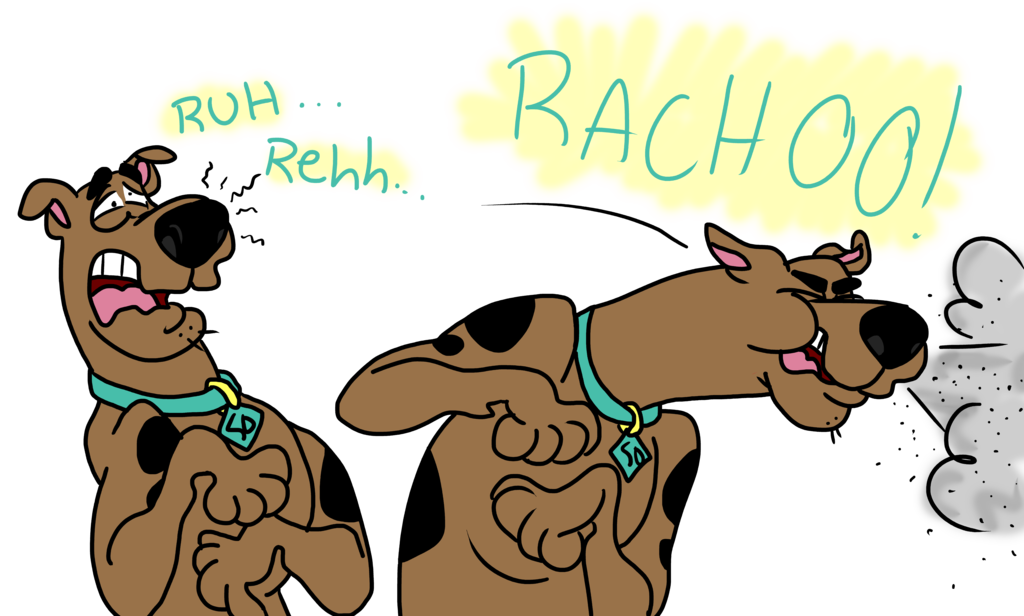 Sneeze comic by psfforum. Scooby doo clipart collar
