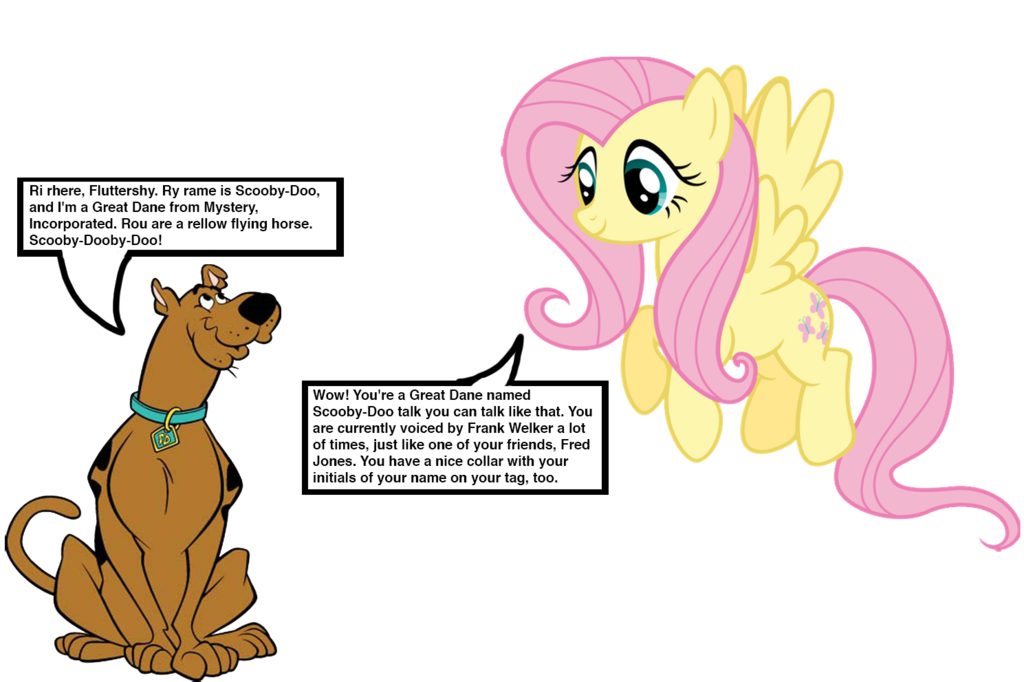 Scooby doo clipart collar. Meets fluttershy by darthranner