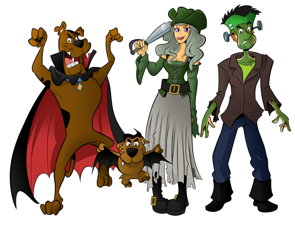 Scooby doo clipart halloween. Commission special by boscoloandrea