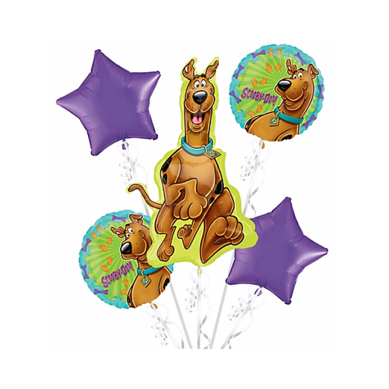 Scooby doo clipart happy. Birthday balloon bouquet pc