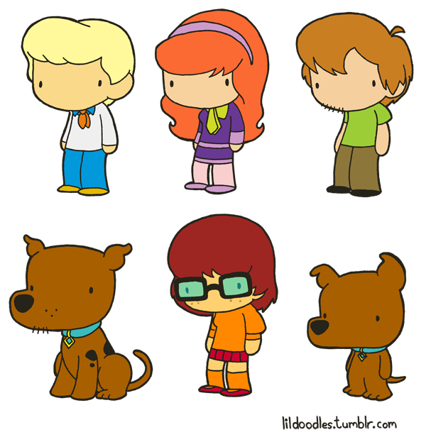 scooby doo clipart line drawing