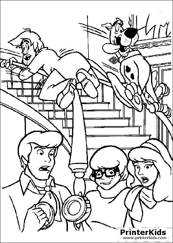 Coloring pages you are. Scooby doo clipart line drawing
