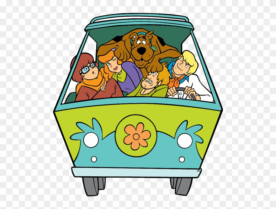 Scooby doo clipart mystery machine. Gang