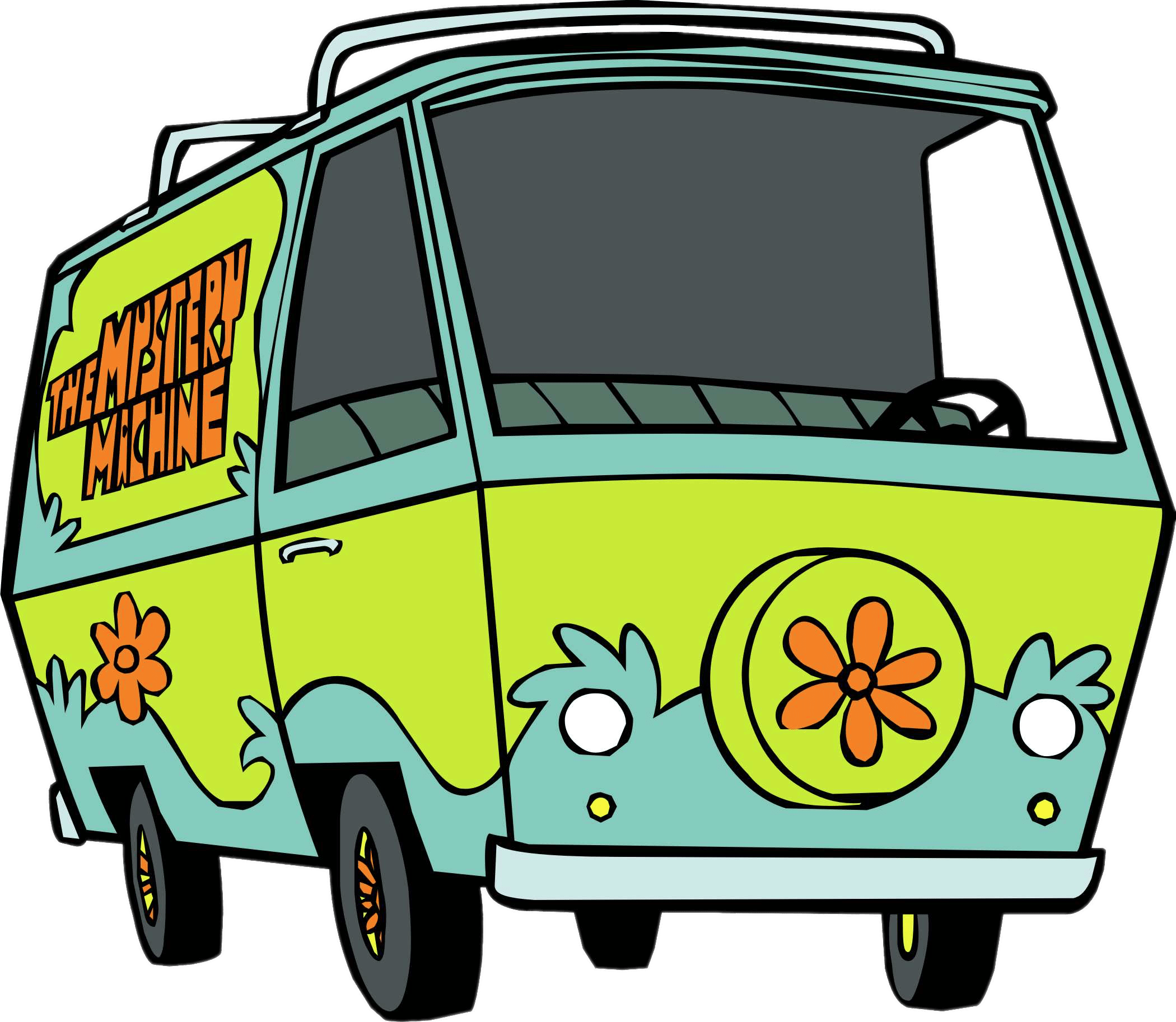 Scooby doo clipart mystery machine. The transparent png stickpng