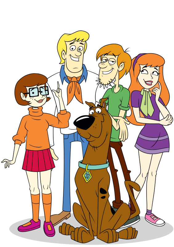 scooby doo clipart mystery team