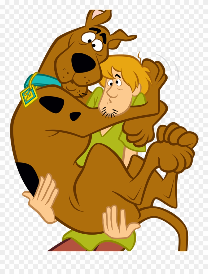 Scooby doo clipart scared. In shaggy s arms