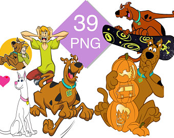 Scooby doo clipart scoby. Etsy