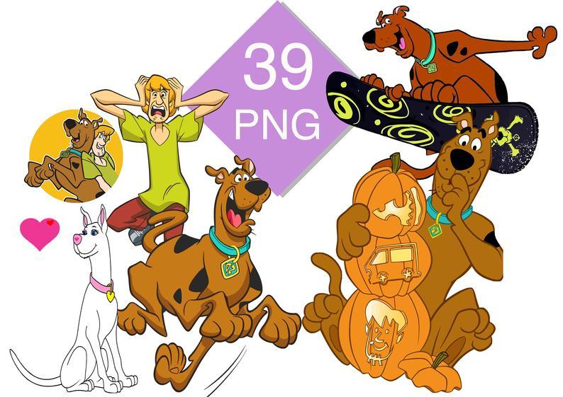 Scooby doo clipart scoobt. Bundle png files images
