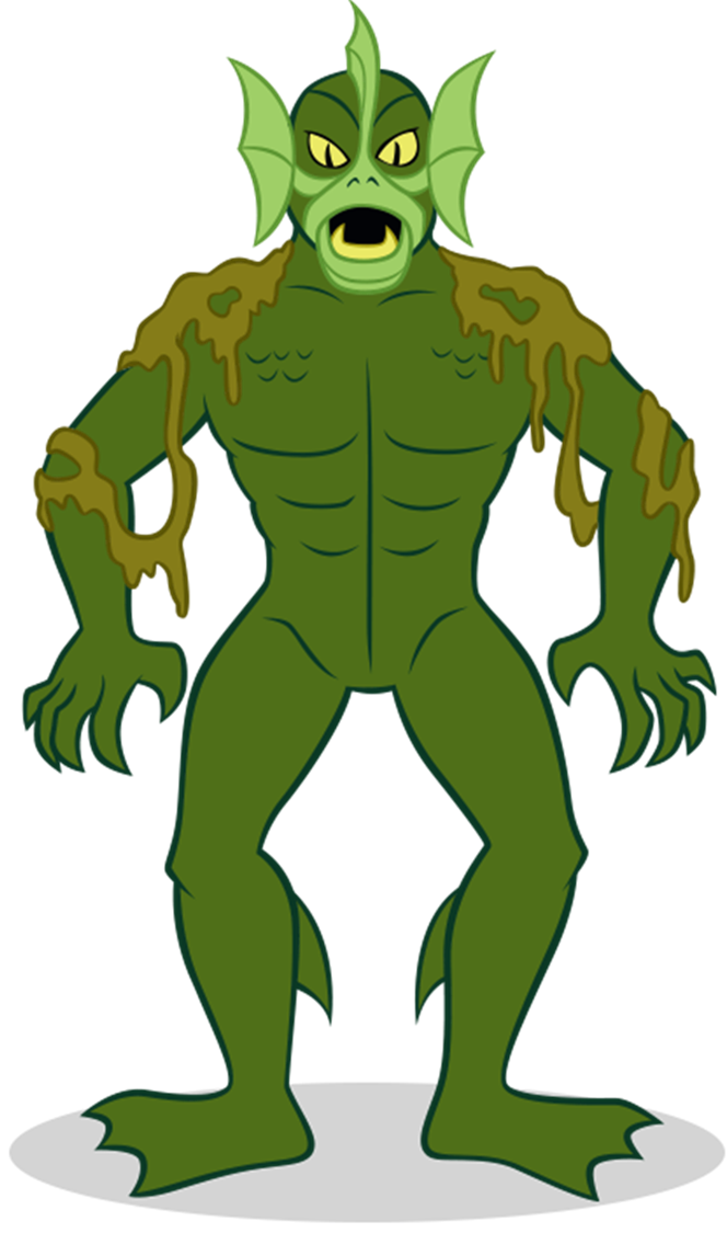 Scooby doo clipart villain. Sea demon from scoo