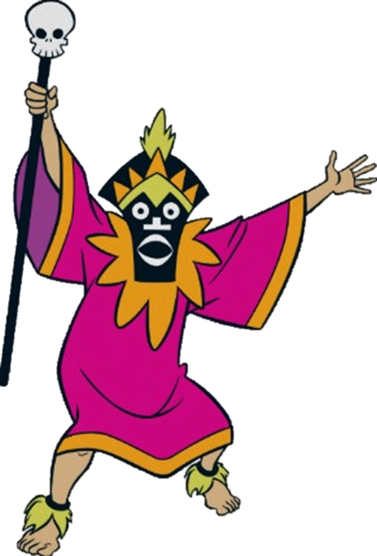 Scooby doo clipart villain. Witch doctor from a