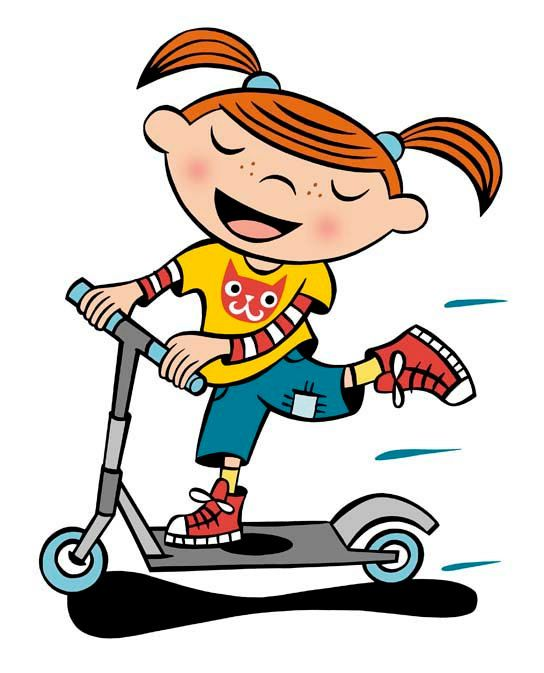 Girl summer crafts pinterest. Scooter clipart