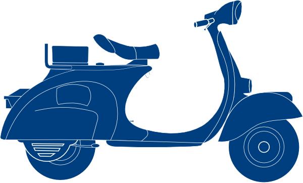 Scooter clipart. Dark blue clip art