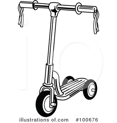 Illustration by andy nortnik. Scooter clipart