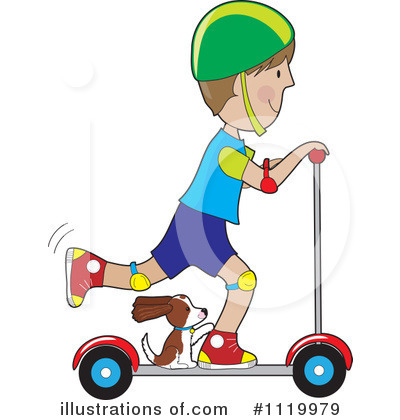 Scooter clipart. Illustration by maria bell