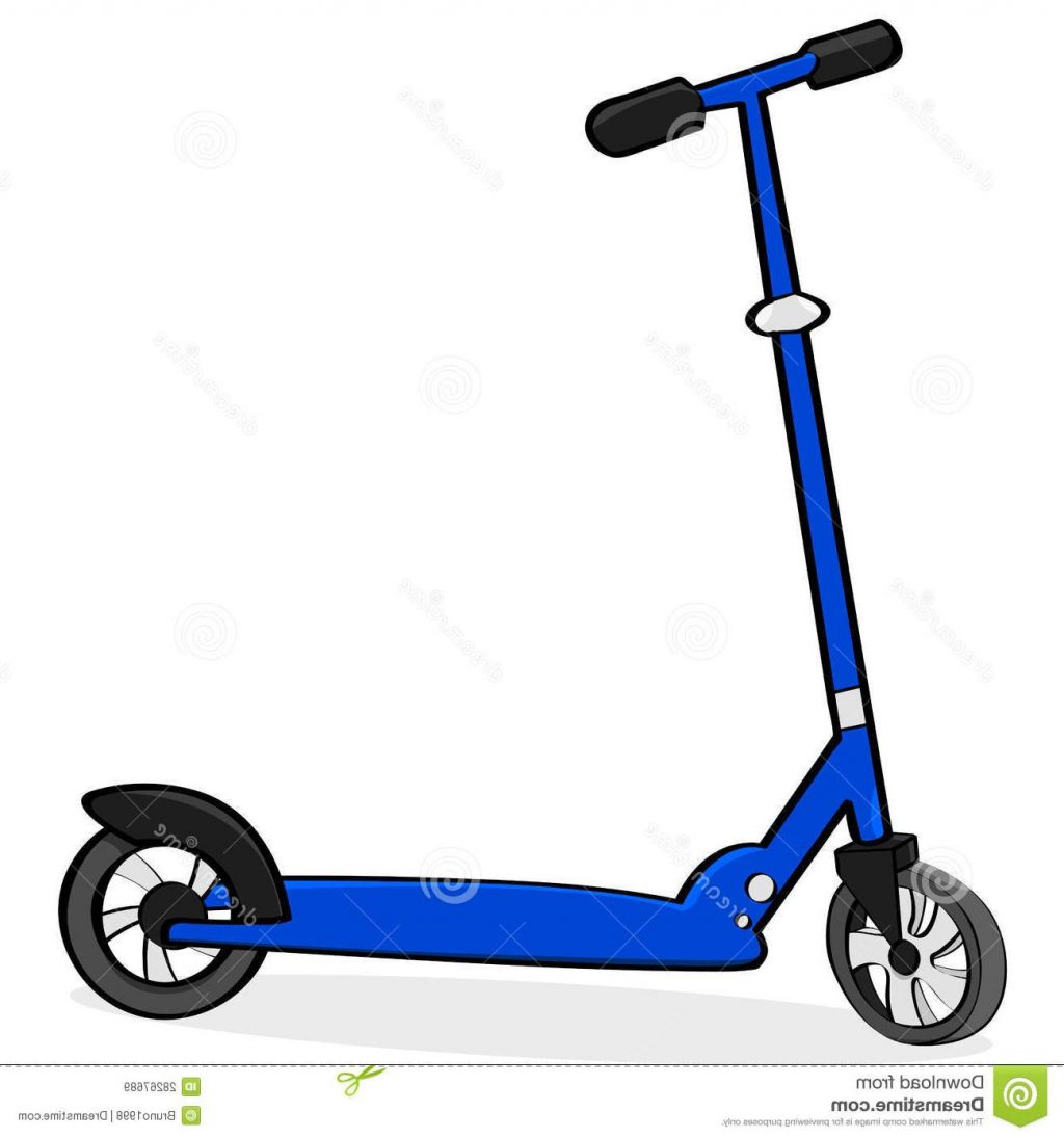 Unique kick images . Scooter clipart
