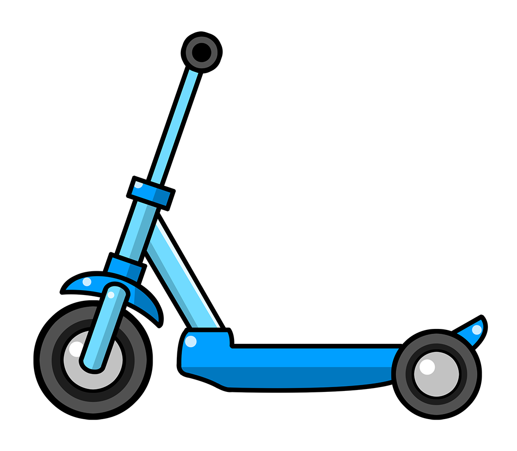 Scooter clipart. Free