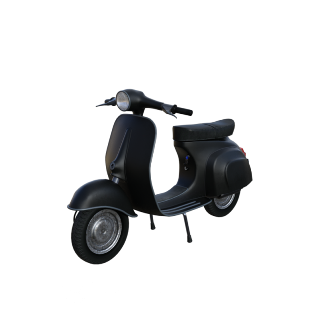 Classic vehicle png psd. Scooter clipart black and white