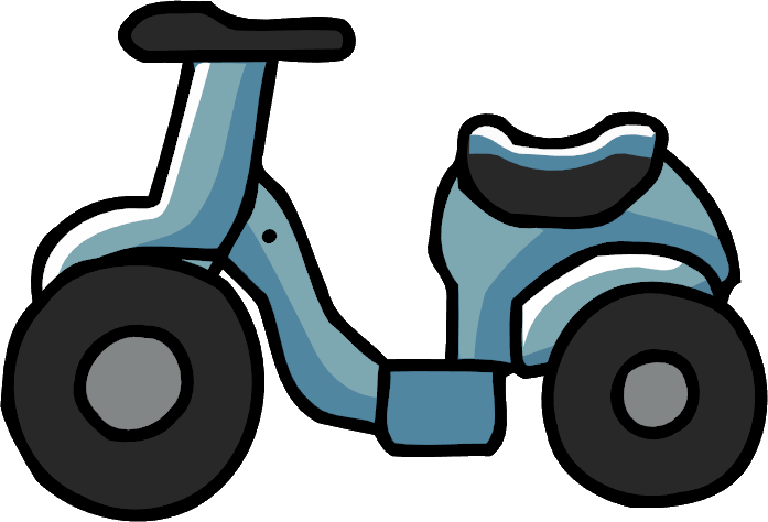 Scribblenauts wiki fandom powered. Scooter clipart blue object