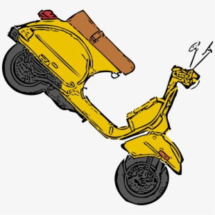 Scooter clipart blue object. Standing objects free