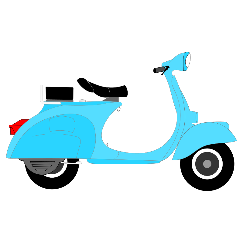 Scooter clipart cartoon. Moped motorcycle vespa clip