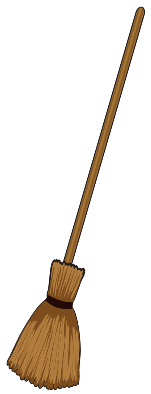 Scooter clipart cute. Witch broom