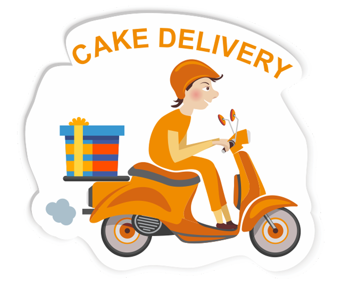Cake clip art images. Scooter clipart delivery scooter