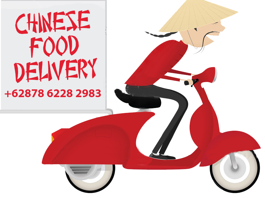 Wonkys chinese takeaway areas. Scooter clipart delivery scooter