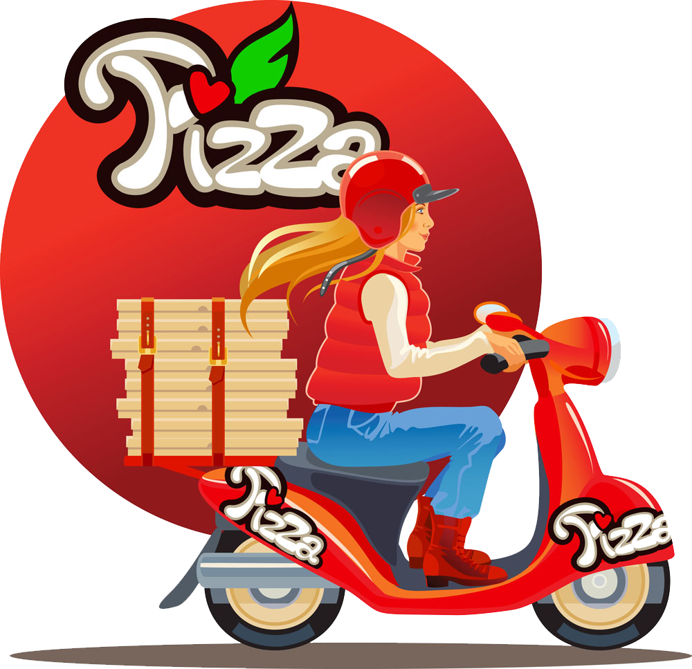 Scooter clipart delivery scooter. Pizza motorcycle beauty