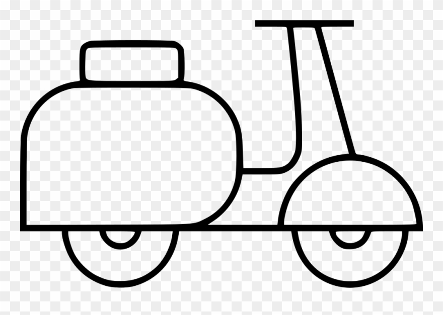 Clip art library stock. Scooter clipart drawing