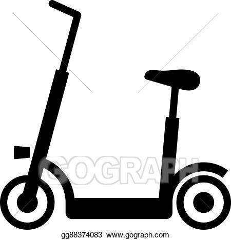 Vector illustration . Scooter clipart electric scooter