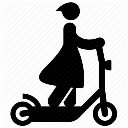 Scooter clipart electric scooter.  kick rider person