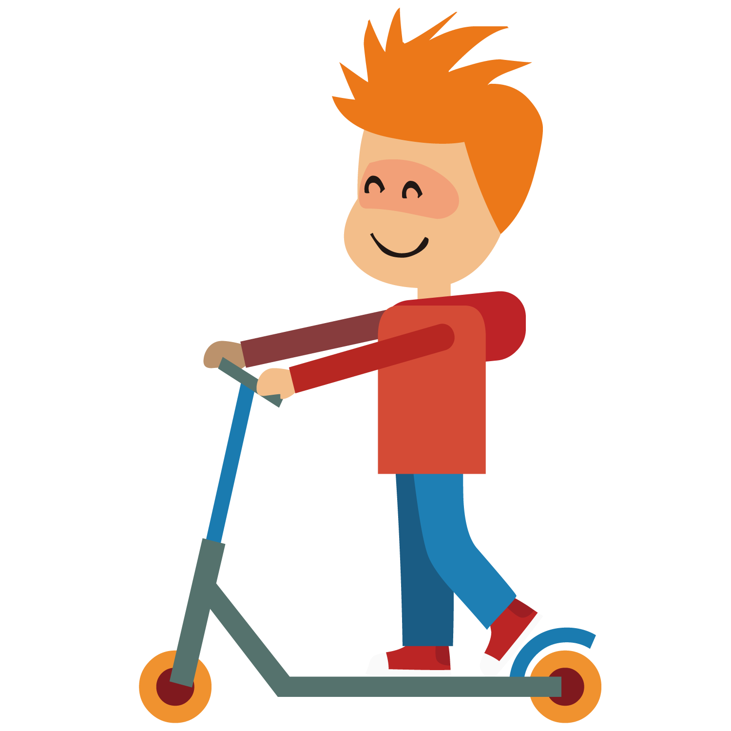 Clip art boy png. Scooter clipart kick scooter
