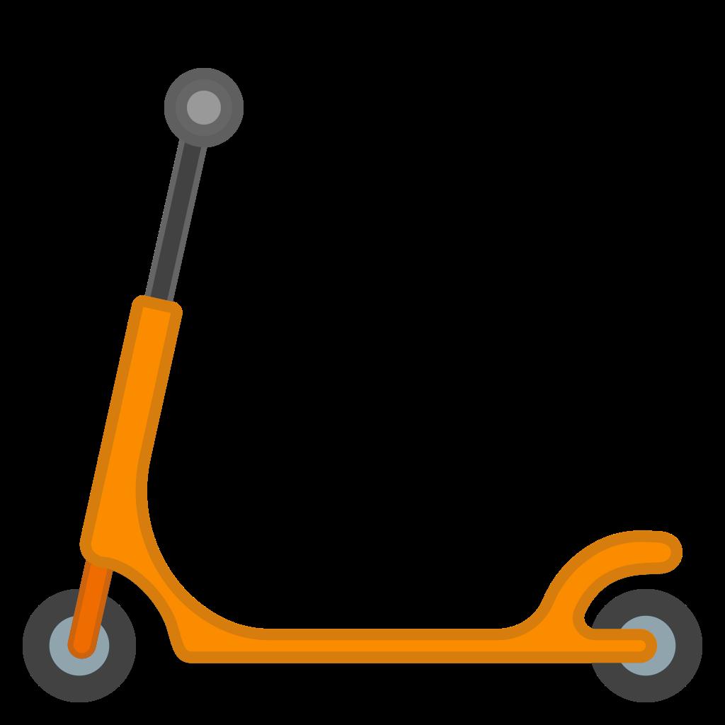 Icon noto emoji travel. Scooter clipart kick scooter