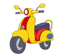 Scooter clipart motorcycle.  clipartlook