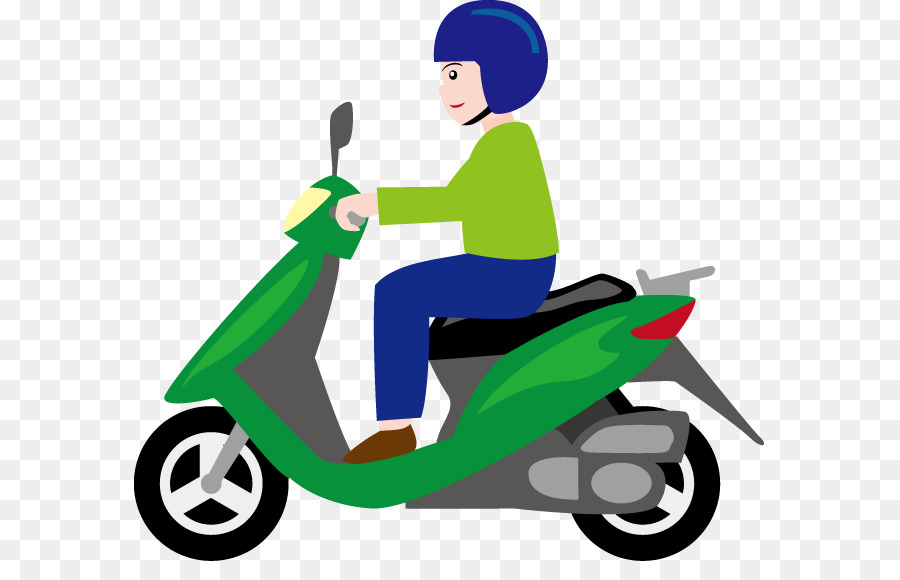 Scooter clipart motorcycle. Car cartoon transparent