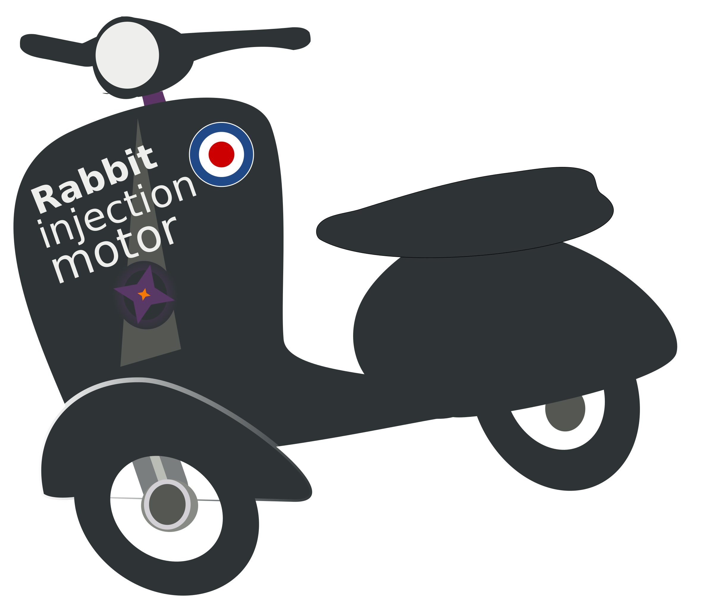 Motor scooter made in. Wheel clipart transport