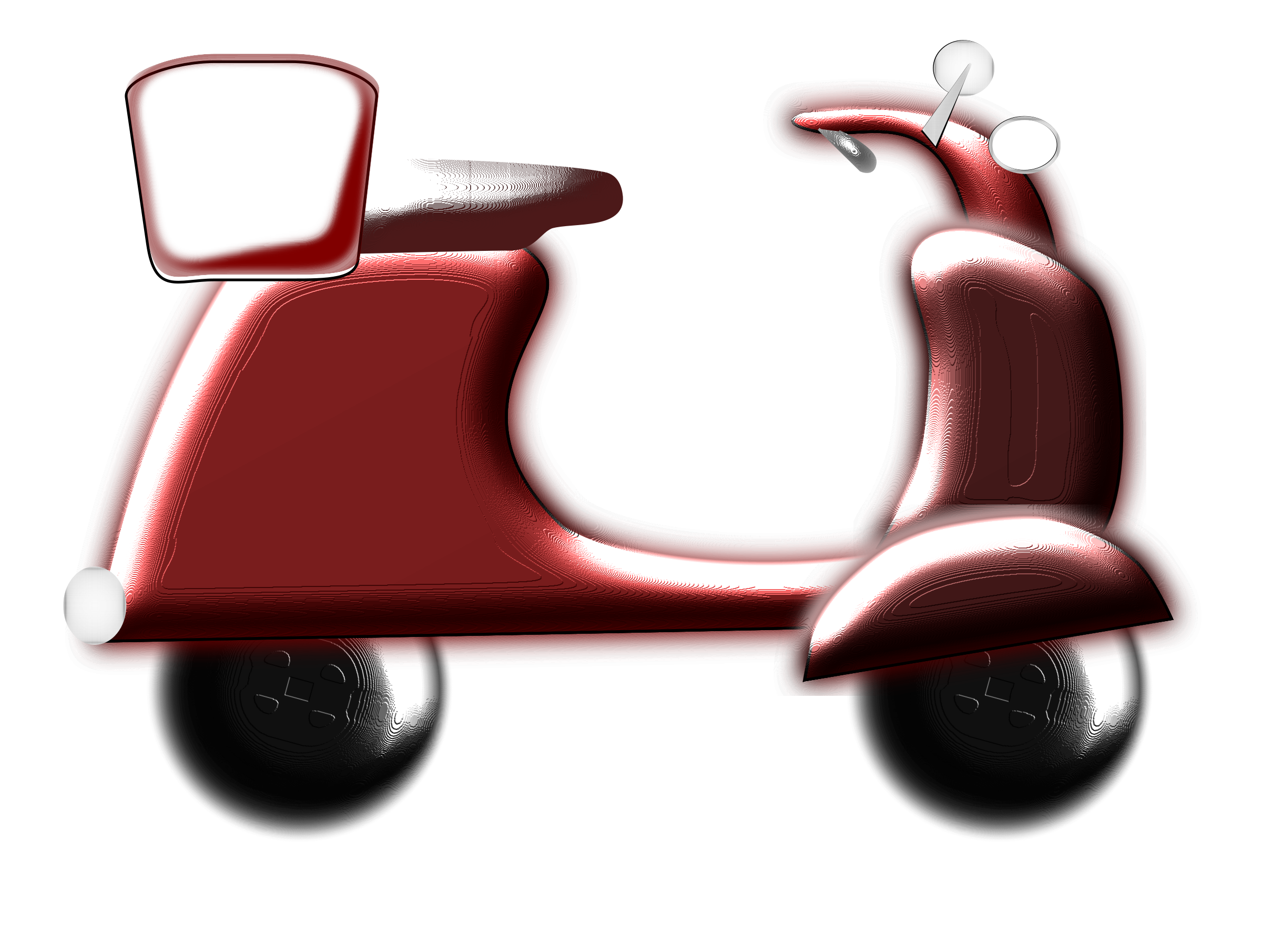 D big image png. Scooter clipart red scooter