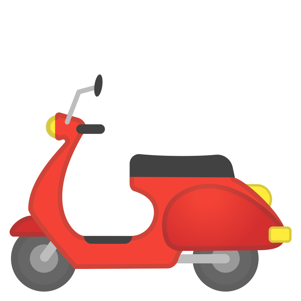 Scooter clipart red scooter. Motor icon noto emoji