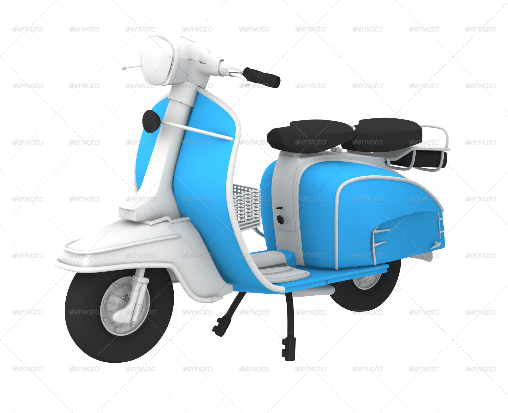 Scooter clipart retro scooter.  d blue by