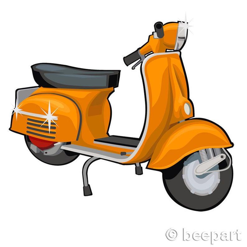 Clip art vespa vintage. Scooter clipart retro scooter