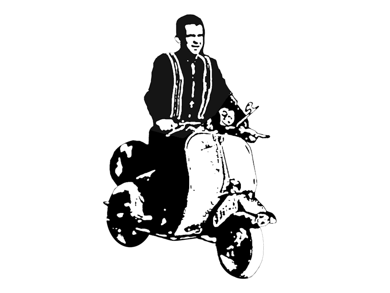 Scooter clipart retro scooter. Baby about page cool