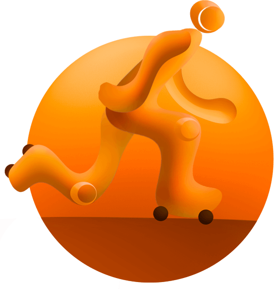World games derby. Scooter clipart roller