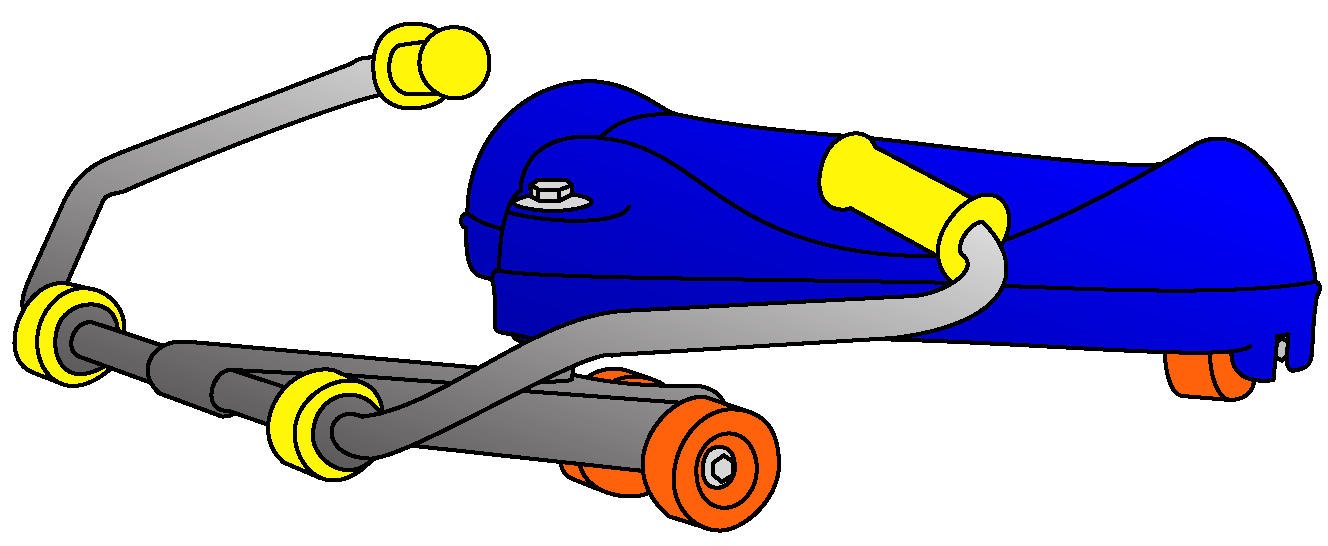 Racer flying turtle sit. Scooter clipart roller