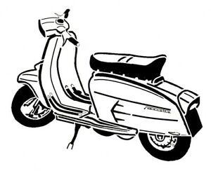 Scooter clipart scooter lambretta. Details about high detail