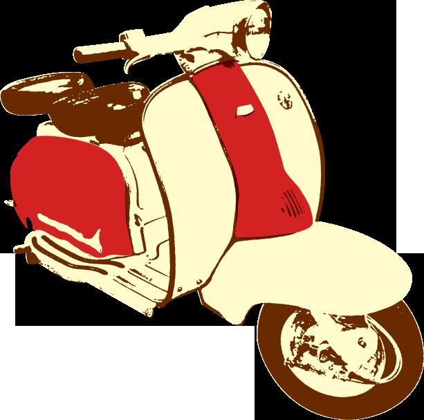 Scooter clipart scooter lambretta. Mersea island rally